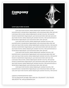 Reaching Hands Letterhead Template, 07634, Religious/Spiritual — PoweredTemplate.com