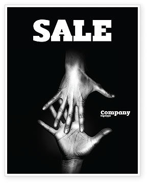 Religious/Spiritual: Reaching Hands Sale Poster Template #07634