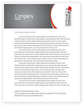 Jigsaw Ladder Letterhead Template, 07644, Consulting — PoweredTemplate.com