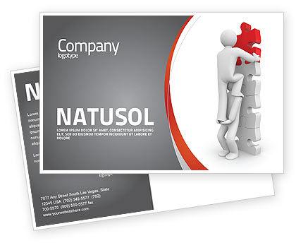 Jigsaw Ladder Postcard Template, 07644, Consulting — PoweredTemplate.com
