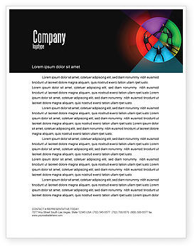 Concept Pie Chart Letterhead Template, 07648, Consulting — PoweredTemplate.com