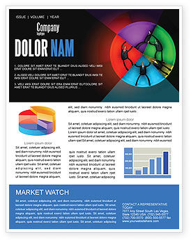 Consulting: Concept Pie Chart Newsletter Template #07648