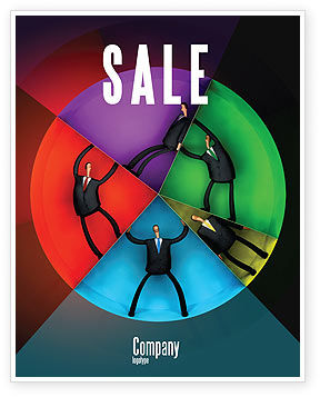 Concept Pie Chart Sale Poster Template, 07648, Consulting — PoweredTemplate.com