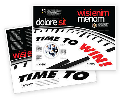 Time to Win Brochure Template, 07651, Consulting — PoweredTemplate.com