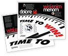 Consulting: Time to Win Brochure Template #07651