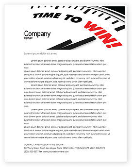 Time to Win Letterhead Template, 07651, Consulting — PoweredTemplate.com