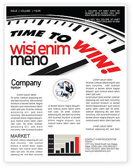 Time to Win Newsletter Template, 07651, Consulting — PoweredTemplate.com