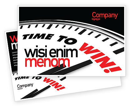 Time to Win Postcard Template, 07651, Consulting — PoweredTemplate.com