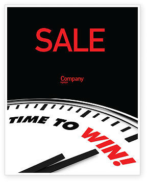 Time to Win Sale Poster Template