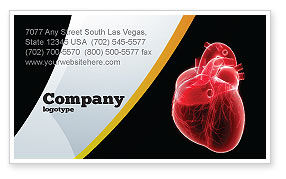 Model Of Heart Business Card Template