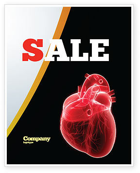 Model Of Heart Sale Poster Template