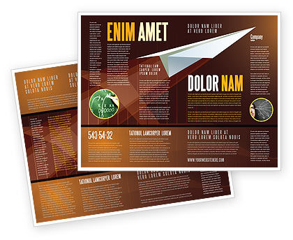 Flying Up Brochure Template, 07663, Business Concepts — PoweredTemplate.com