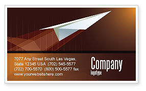 Flying Up Business Card Template, 07663, Business Concepts — PoweredTemplate.com