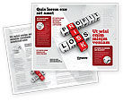 Financial/Accounting: Profit and Risk Brochure Template #07669