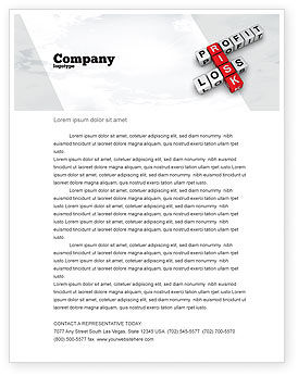 Financial/Accounting: Profit and Risk Letterhead Template #07669