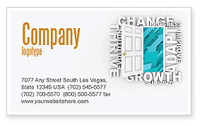 Improving Progress Business Card Template, 07681, Consulting — PoweredTemplate.com