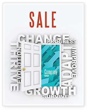Improving Progress Sale Poster Template, 07681, Consulting — PoweredTemplate.com