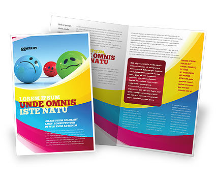 Emotions Brochure Template, 07692, Careers/Industry — PoweredTemplate.com