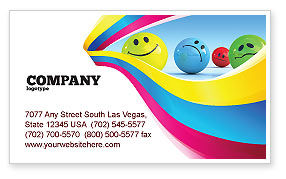 Careers/Industry: Emotions Business Card Template #07692