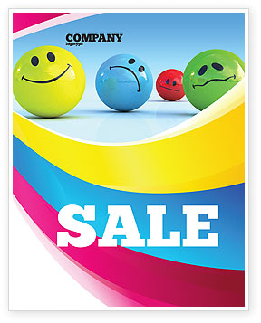 Emotions Sale Poster Template, 07692, Careers/Industry — PoweredTemplate.com