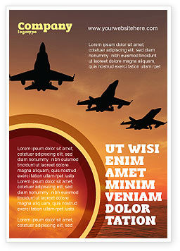 Aircraft Parade Ad Template, 07701, Military — PoweredTemplate.com