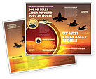 Military: Aircraft Parade Brochure Template #07701