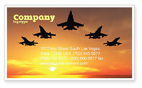Aircraft Parade Business Card Template, 07701, Military — PoweredTemplate.com