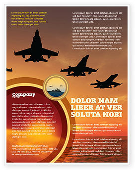 Military: Aircraft Parade Flyer Template #07701