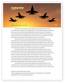 Military: Aircraft Parade Letterhead Template #07701