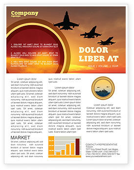 Military: Aircraft Parade Newsletter Template #07701