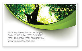 Nature & Environment: High Tree Business Card Template #07704