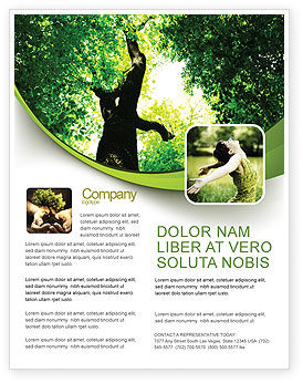 High Tree Flyer Template, 07704, Nature & Environment — PoweredTemplate.com