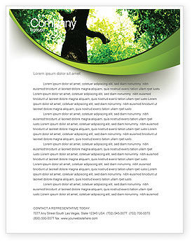 Nature & Environment: High Tree Letterhead Template #07704