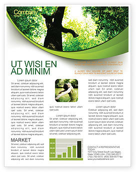 Nature & Environment: High Tree Newsletter Template #07704