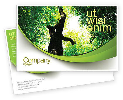 Nature & Environment: High Tree Postcard Template #07704