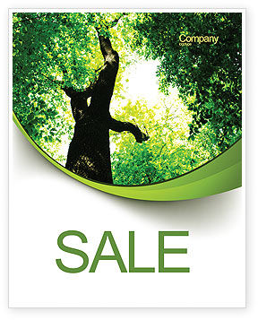 Nature & Environment: High Tree Sale Poster Template #07704