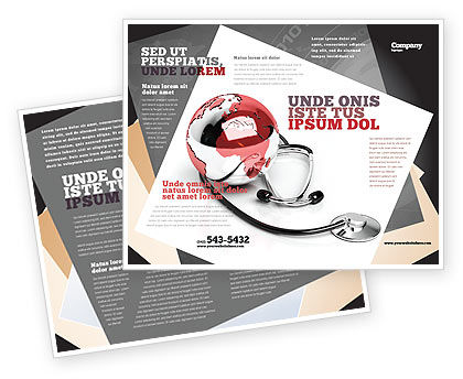 Medical Care Of The World Brochure Template, 07711, Business — PoweredTemplate.com