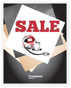 Business: Medical Care Of The World Sale Poster Template #07711