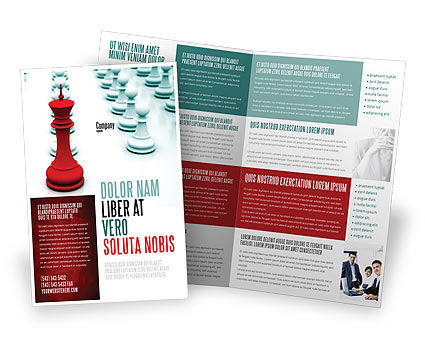 Chess King Ready To Fight Brochure Template