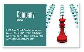 Education & Training: Chess King Ready To Fight Business Card Template #07712
