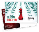 Education & Training: Chess King Ready To Fight Postcard Template #07712