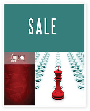 Chess King Ready To Fight Sale Poster Template, 07712, Education & Training — PoweredTemplate.com