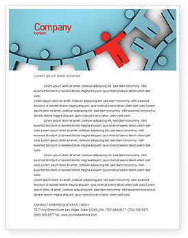 Consulting: Man Cog Letterhead Template #07715
