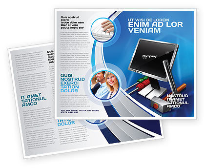 Computer Tech Help Brochure Template Design And Layout Download Now
