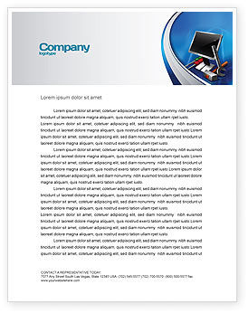 Computer Tech Help Letterhead Template, 07726, Utilities/Industrial — PoweredTemplate.com