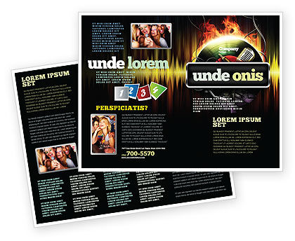 Music Energy Brochure Template, 07740, Careers/Industry — PoweredTemplate.com