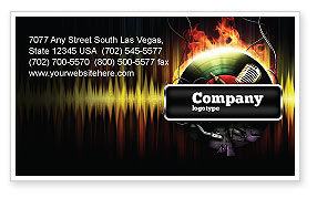 Music Energy Business Card Template