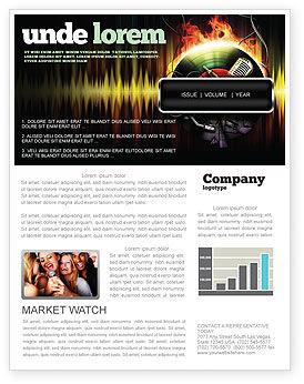 Careers/Industry: Music Energy Newsletter Template #07740
