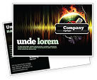 Careers/Industry: Music Energy Postcard Template #07740