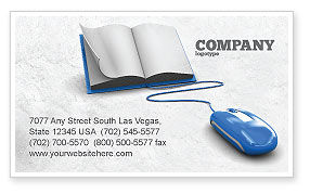 Education & Training: Electronic Book Business Card Template #07746